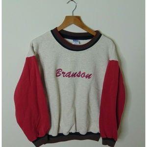 VIntage Branson Xl Color Block Crewneck Sweatshirt